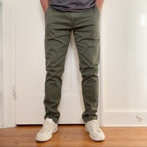 J. Crew 484 Slim Stretch Chino Pants Green 32x32